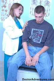 hot brunette doctor plays