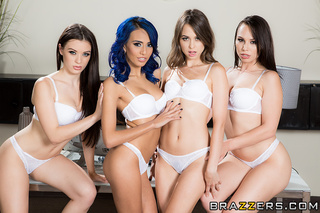 stunning knockouts white lingerie