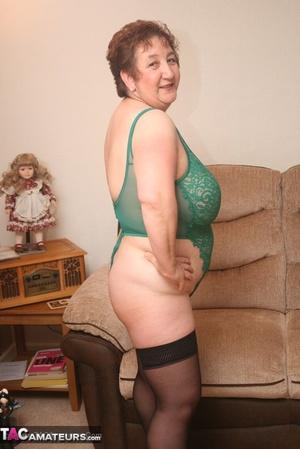 Granny stockings heels