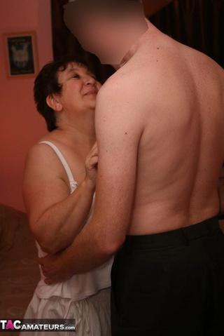 mature bbw teases horny