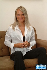 high heeled blonde black