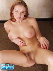 redhead cutie white lingerie