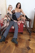 Fishnets-wearing brunette and blonde go crazy over BBC