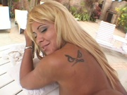 white bikini latinas pounded