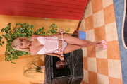 pink negligee blonde has