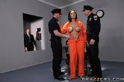 adorable brunette prisoner gets