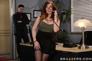 Busty redhead Dani Jensen hooks up with a large cock for a hardcore fuck  2069707