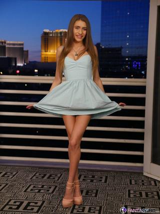 young brunette beautiful long