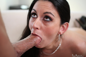 Seed flows all over the outside of her twat after a hard fucking - XXXonXXX - Pic 8