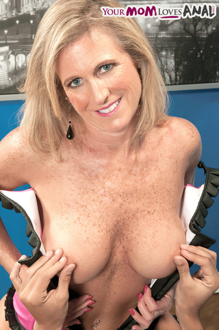 shapely blonde mama purple