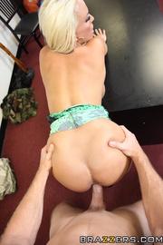 horny blonde milf strips