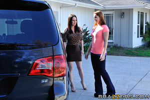 Horny mom gets stuffed by her daughter's husband in the car. - XXXonXXX - Pic 7