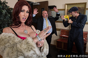 Rich redhead wife gets pounded by a robber in the living room. - XXXonXXX - Pic 7