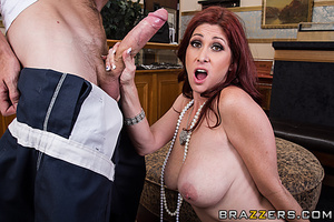 Rich redhead wife gets pounded by a robber in the living room. - XXXonXXX - Pic 14