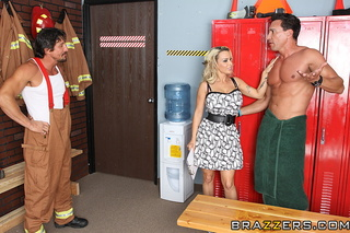 blonde milf fire station