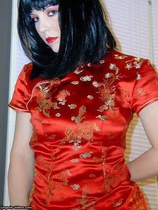 alluring babe red chinese