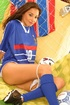 Cute soccer player teases with her smoking hot body before she strips
