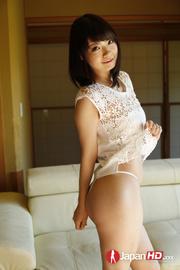 tempting brunette wearing lace