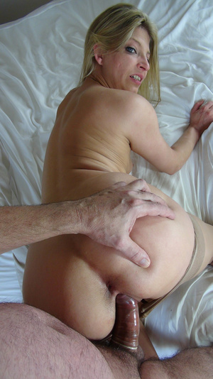 Horny blonde is in nylon pantyhose while fucking and getting cum in her mouth - XXXonXXX - Pic 2
