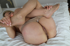 Horny blonde is in nylon pantyhose while fucking and getting cum in her mouth - XXXonXXX - Pic 12