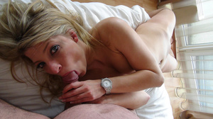 Horny blonde is in nylon pantyhose while fucking and getting cum in her mouth - XXXonXXX - Pic 13