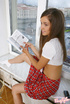 White socks and red skirt schoolgirl enjoys hardcore anal