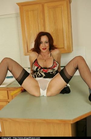 White see-through panties MILF plays with bananas - XXXonXXX - Pic 9