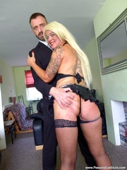 small tits blonde with