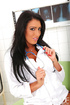 Pointy nipples brunette tanned nurse masturbating at work