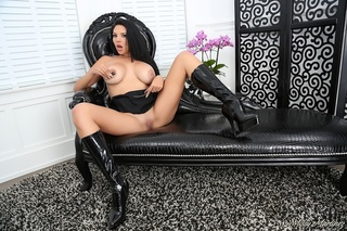 leather boots latina showing