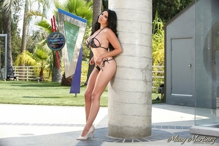 slutty-ass bikini latina outdoors