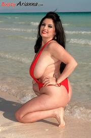 one-piece swimsuit chubby brunette