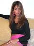 pink skirt exotic brunette