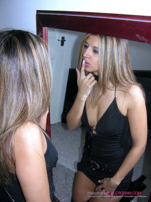 Black dress blonde gets throat-fucked by a younger dude - XXXonXXX - Pic 3