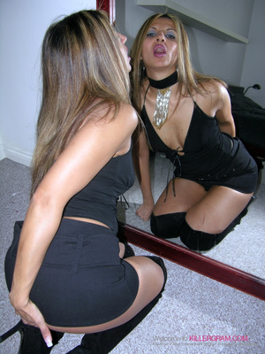 Black dress blonde gets throat-fucked by a younger dude - XXXonXXX - Pic 6