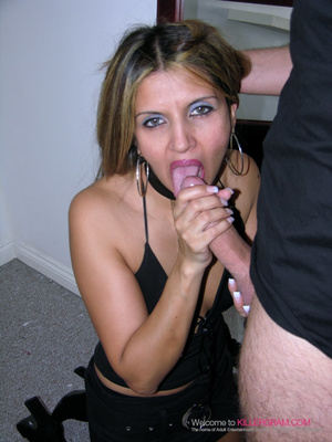 Black dress blonde gets throat-fucked by a younger dude - XXXonXXX - Pic 8