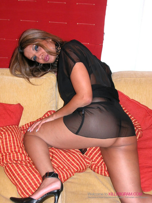 Brunette in a see-through get-up gets throat-fucked - XXXonXXX - Pic 3