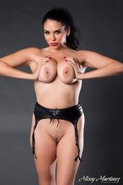 black garter brunette perfect