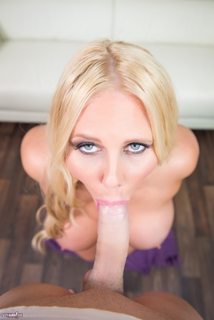 Horny babe in golden hair makes a beautiful and hot blowjob POV. - XXXonXXX - Pic 8
