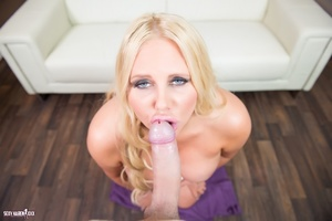 Horny babe in golden hair makes a beautiful and hot blowjob POV. - XXXonXXX - Pic 12