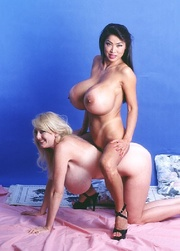 asian chick blonde interracial