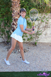 young brunette tennis player