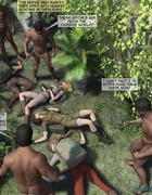 Busty blonde explorer groped while unconscious.Maya Adventure By Feather