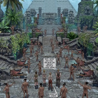 Mayan tribe tries to capture white - BDSM Art Collection - Pic 2