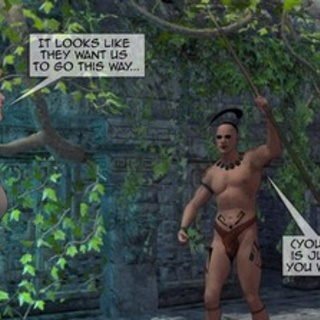 Mayan tribe tries to capture white - BDSM Art Collection - Pic 3