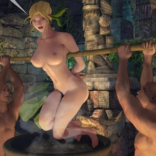 Busty blonde is about to be boiled - BDSM Art Collection - Pic 2