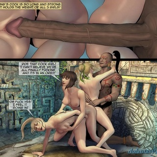 Intense orgy with a big-dicked Mayan - BDSM Art Collection - Pic 2