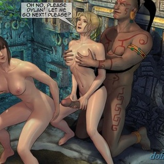 Intense orgy with a big-dicked Mayan - BDSM Art Collection - Pic 4