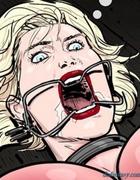Brunette facesitting her blonde torture victim.Prison Horror Story 7 By