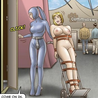Short-haired busty blonde wheeled out - BDSM Art Collection - Pic 3